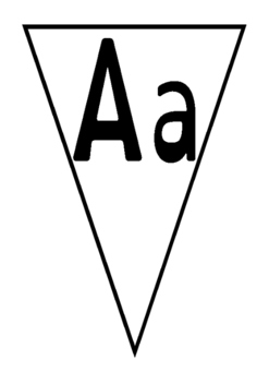 Bunting- alphabet with upper and lower case letters
