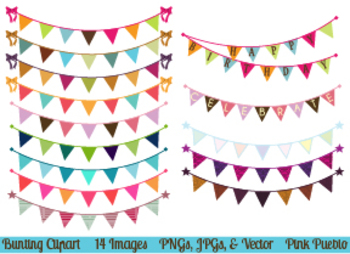 Bunting and Flag Clipart