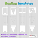 Bunting templates. Clip art for commercial use. Banner tem