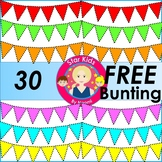 Bunting Clipart - FREE Mega Set {Commercial Use OK}