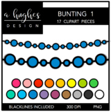Buntings Clipart Set: 1 {A Hughes Design}