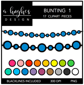 Buntings Set 1 {Graphics for Commercial Use}