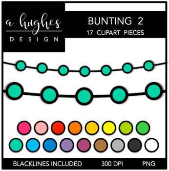 Buntings Clipart Set: 2 {A Hughes Design}