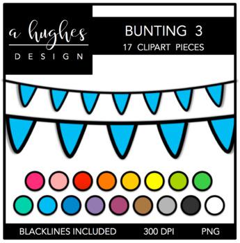 Buntings Clipart Set: 3 {A Hughes Design}