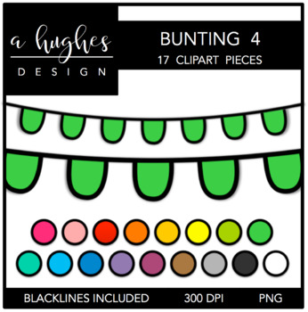 Buntings Clipart Set: 4 {A Hughes Design}