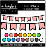 Buntings Clipart Set: 5 {A Hughes Design}