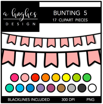 Buntings Set 5 {Graphics for Commercial Use}
