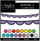Buntings Clipart Set: 6 {A Hughes Design}
