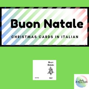 Buon Natale CHRISTMAS CARDS Italian