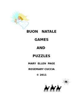 Buon Natale Christmas Games and Puzzles (revised)