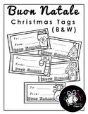 Buon Natale   Christmas Tags (Black & White)