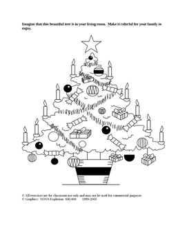 Buon Natale Word Game and Drawings Pre-K --K