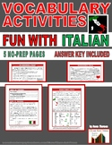 Vocabulary Activities: Common Italian Words and Phrases