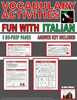 Vocabulary Activities: Common Italian Words and Phrases (4