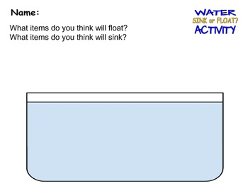 Buoyancy Activity and Worksheets for Kids