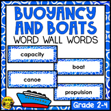 Buoyancy & Boats Word Wall Words- Editable