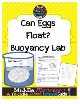 Buoyancy Lab: Eggs in Salt Water