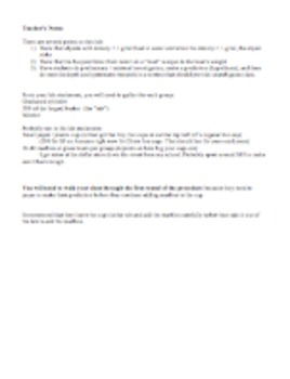 Buoyancy Lab - Newton's 3rd Law