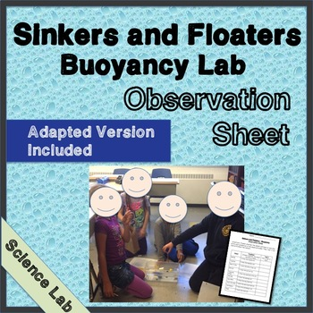 Buoyancy Observation Sheet - Science Lab - Float or Sink - Scientific Process