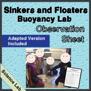 Buoyancy Observation Sheet - Science Lab - Float or Sink - Scientific Process