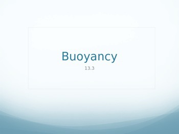 Buoyancy PowerPoint