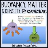 Buoyancy PowerPoint - Sinking, Floating, Mass, Weight, Density