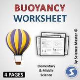 Buoyancy Worksheet One in Many Ways