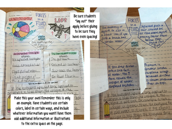 Buoyancy and Lift Reading Comprehension Interactive Notebook