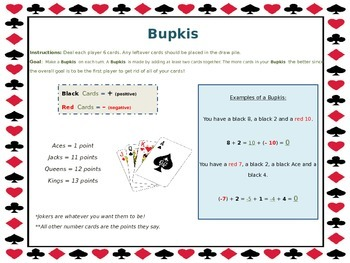 Bupkis- A Game of Integers