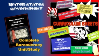 """Flipped Bureaucracy Complete Unit - """"Our Nation's Fourth Branch"""""""
