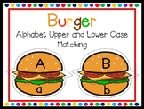 Burger Alphabet Upper and Lower Case Match Game