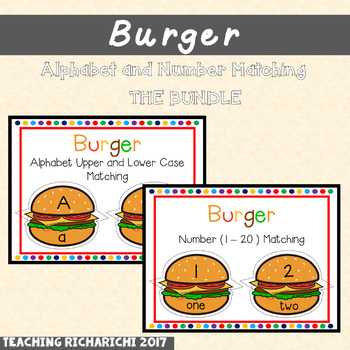 Burger Alphabet and Number Game (Bundle)