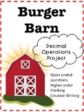 Burger Barn Decimal Operations Activity