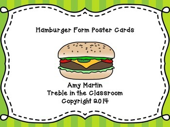 Music Burger Form Posters