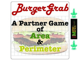 Perimeter and Area Game: Burger Grab