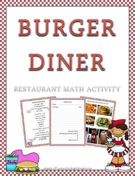 """Burger Diner"" Restaurant Decimal Math"