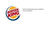 Burger King Complete Menu Math and More!