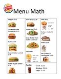 Burger King Menu Math