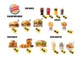 Burger King Menu and Worksheets