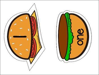 Burger Number Match Game (1-20)