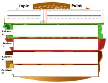Burger Paragraph Graphic Organizer