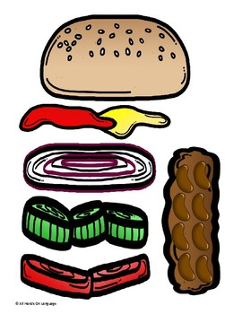 Burger Sequencing and Fun! Request and Sequence Autism Support
