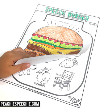 Burger Speech and Language Flip Flap Craft