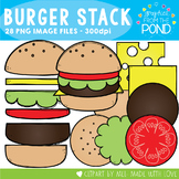 Burger Stack! - Hamburger Color & Line Art Graphics