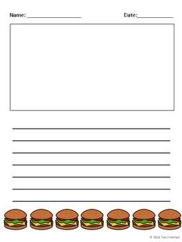 Hamburger Writing Paper