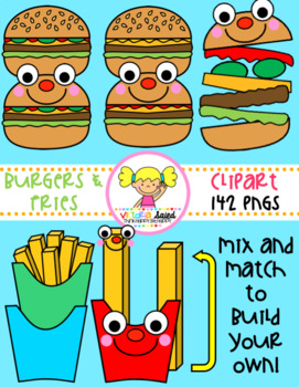 Burgers & Fries Clipart