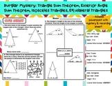 Burglar Mystery: Triangle Interior/Exterior Sum, Isosceles
