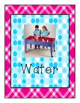 Pink Plaid and Teal Polka dot print Classroom Learning Center Signs