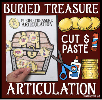 Buried Treasure Articulation! Speech Therapy Craft Activity