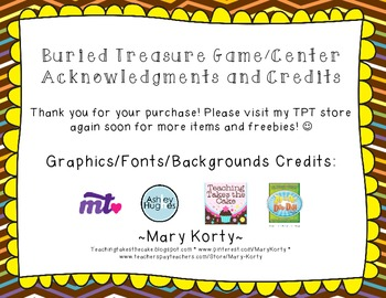 Buried Treasure: BUY 2 GET 1 FREE - A Fry Word Learning Center (Words 1-300)